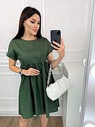 Нарядное котоновое платье с завышенной талией, короткий рукав, фото 3