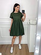 Нарядное котоновое платье с завышенной талией, короткий рукав, фото 5