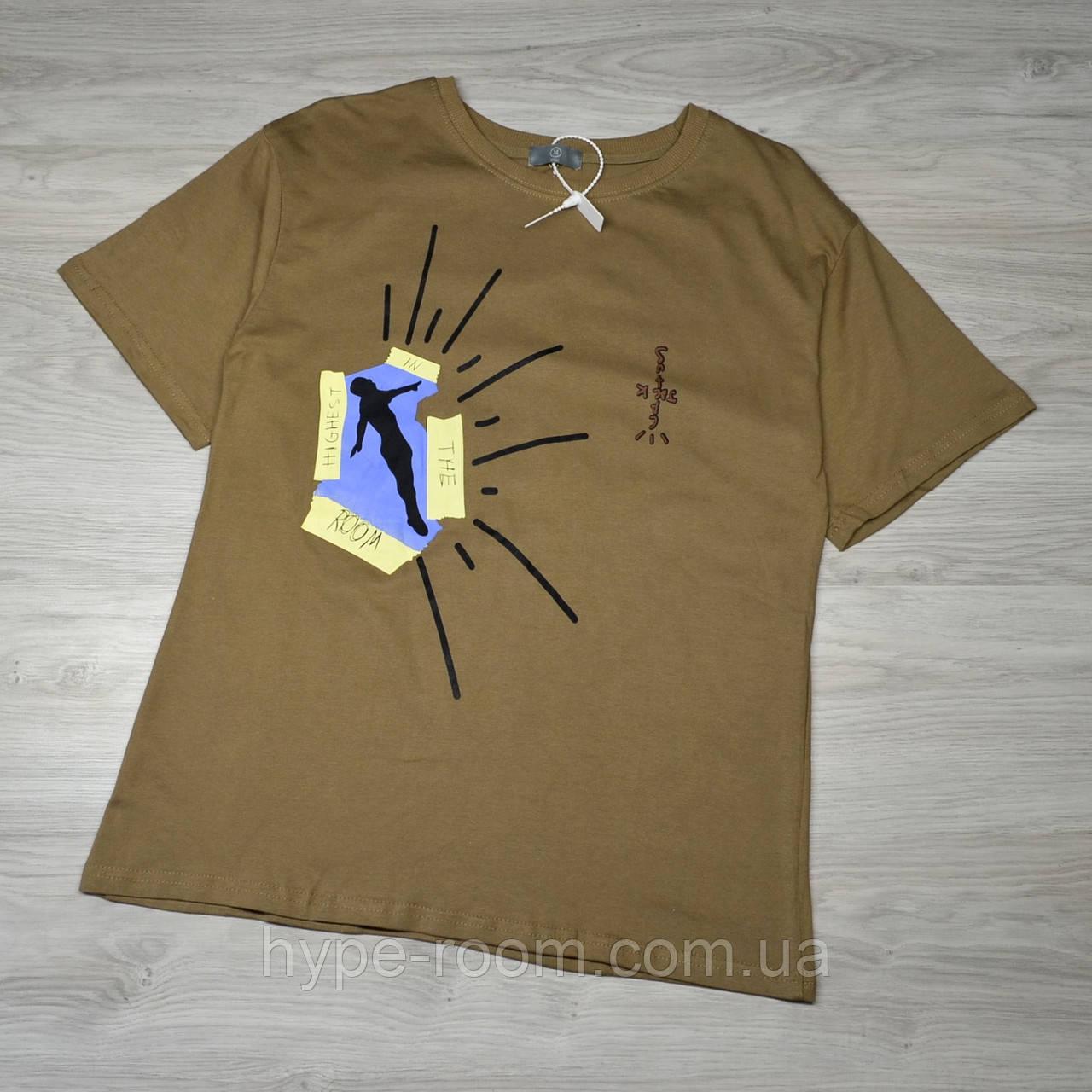 Горчичная Мужская футболка Travis Scott Cactus Jack