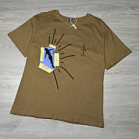 Горчичная Мужская футболка Travis Scott Cactus Jack, фото 1