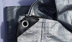 "Тент ""Серый"" 6х10м, плотность 150 г/м2, фото 3"