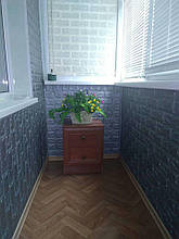 Lb Стеновая 3D панель мягкая самоклеющаяся декоративная 3д самоклейка обои под кирпич Серебро 700х770х5мм