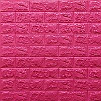 Lb Стеновая 3D панель, мягкая, самоклеющаяся, декоративная 3д самоклейка обои под кирпич Темно-розовый