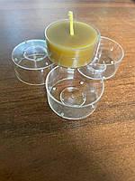 Емкость для чайной свечи пластиковоя , контейнер чайной свечи