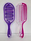 Расчёска для волос продувная La Rosa пластмассовая 9571 Фиолетовая, фото 7