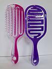 Расчёска для волос продувная La Rosa пластмассовая 9571 Фиолетовая, фото 9