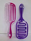 Расчёска для волос продувная La Rosa пластмассовая 9571 Фиолетовая, фото 10