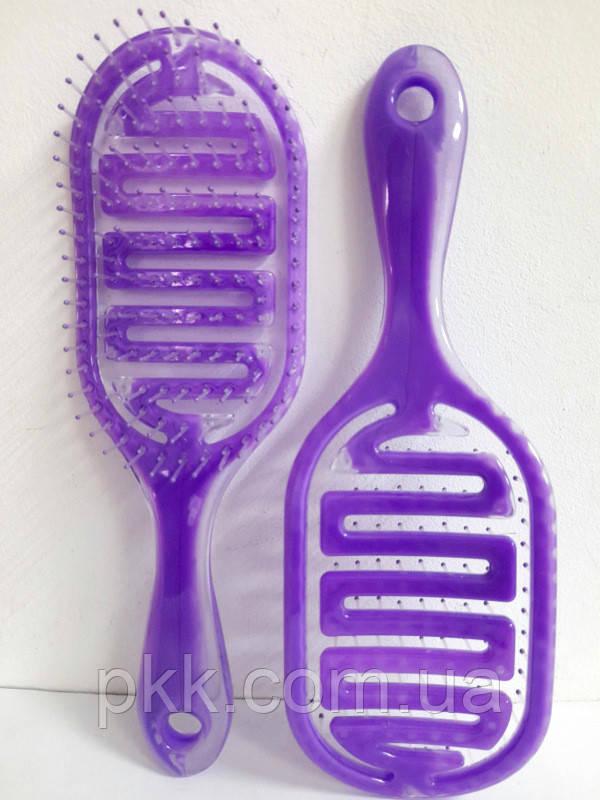 Расчёска для волос продувная La Rosa пластмассовая 9571 Фиолетовая