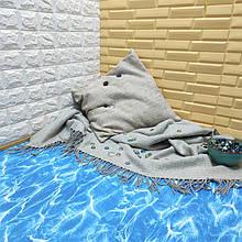 Lb  Мягкий пол пазл EVA модульное напольное покрытие ЭВА влагостойкая панель-коврик 60х60х1 см океан (МР5)