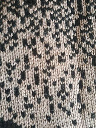 Бежевий в'язаний светр для повних Барбарис, фото 2