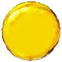 """Фольгована кулька коло золотий 9"""" Flexmetal"""