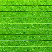 Lb Модульная 3D панель гибкая на клейкой основе декоративная 3 д самоклейка на стену Кирпич Зеленый