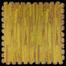 Lb  Мат татами пазл ЭВА модульное покрытие на пол EVA ласточкин хвост складной коврик 60х60х1 см желтое дерево