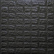 Lb Модульная 3D панель гибкая на клейкой основе декоративная 3 д самоклейка на стену под кирпич Черный