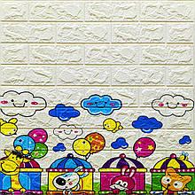 Lb 3D наклейка на стену детская 3Д моющаяся обои декор детской комнаты с клеем самоклейка под кирпич