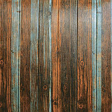 Lb Модульная 3D панель гибкая на клейкой основе декоративная 3 д самоклейка на стену серо-коричневое дерево