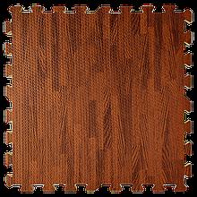Lb  Мат татами пазл ЭВА модульное покрытие на пол EVA ласточкин хвост складной коврик 60х60х1 см дерево темное