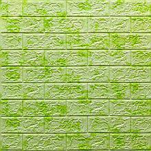 Lb Модульная 3D панель гибкая на клейкой основе декоративная 3 д самоклейка на стену под кирпич Зеленый мрамор