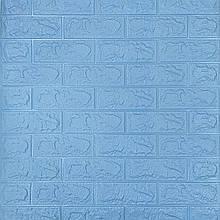 Lb Модульная 3D панель гибкая на клейкой основе декоративная 3 д самоклейка на стену под голубой кирпич