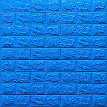 Lb Модульная 3D панель гибкая на клейкой основе декоративная 3 д самоклейка на стену под кирпич Синий