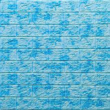 Lb Модульная 3D панель гибкая на клейкой основе декоративная 3 д самоклейка на стену под кирпич Голубой мрамор