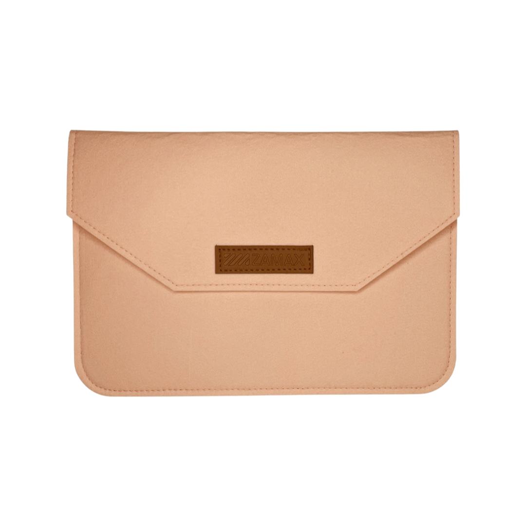 """Повстяний чохол конверт ZAMAX для MacBook Air і Pro 13.3"""" сумка папка з повсті на Макбук бежевий"""