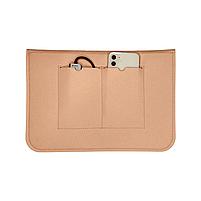 """Повстяний чохол конверт ZAMAX для MacBook Air і Pro 13.3"""" сумка папка з повсті на Макбук бежевий, фото 3"""