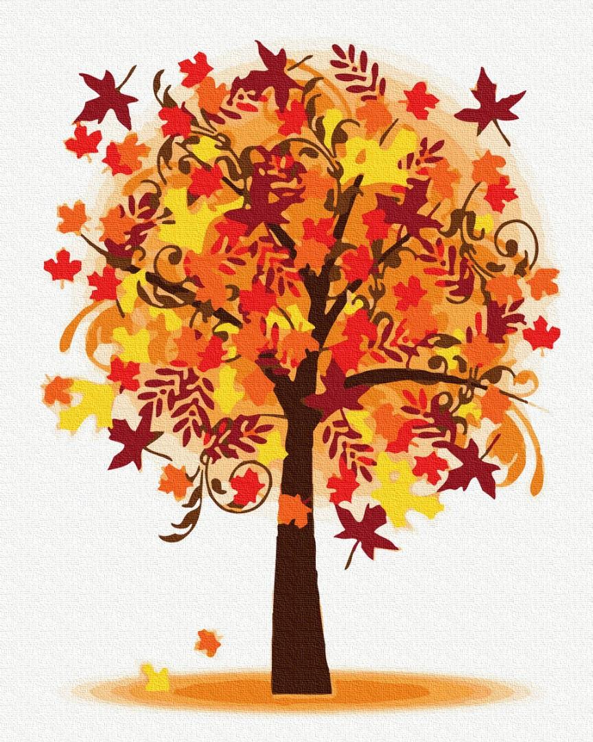 """Картина за номерами """"Осінні дерева"""""""