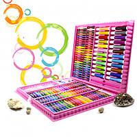Детский Набор для рисования Art 168 предметов Набор для творчества Розовый ТОП