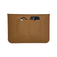 """Повстяний чохол конверт ZAMAX для MacBook Air і Pro 13.3"""" сумка папка з повсті на Макбук коричневий, фото 3"""