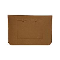 """Повстяний чохол конверт ZAMAX для MacBook Air і Pro 13.3"""" сумка папка з повсті на Макбук коричневий, фото 4"""
