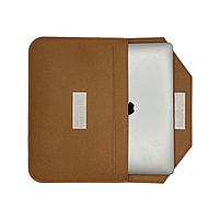 """Повстяний чохол конверт ZAMAX для MacBook Air і Pro 13.3"""" сумка папка з повсті на Макбук коричневий, фото 2"""
