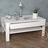 Столик журнальний, кавовий столик c шухлядою з ДСП. КОД:S-5, фото 2