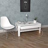 Столик журнальний, кавовий столик c шухлядою з ДСП. КОД:S-5, фото 3