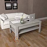 Столик журнальний, кавовий столик c шухлядою з ДСП. КОД:S-5, фото 4