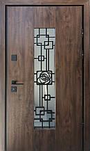 Двери уличные, модель Thermo Steel Premium 21-02, замки Kale(Турция), ковка внутри стеклопакета
