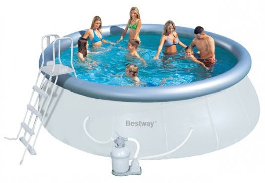 Надувной бассейн BestWay 57242 (457x122 см) с песочным фильтром
