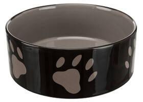 Керамічна миска для собак з малюнком Лапка 0,8 л / ø16 см