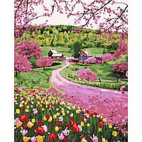 """Картина за номерами. """"Весняне різноцвіття"""" 40*50см. KHO2254"""