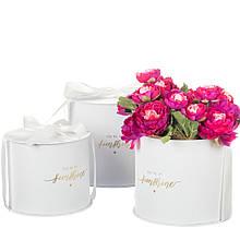 """Коробка для квітів набір 3 шт. """"You are my sunshine"""" білі"""