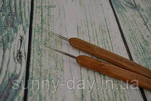 Крючок для вязания с деревянной ручкой, №0,7