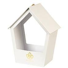 """Коробка для квітів """"Затишний будиночок"""" (white)"""