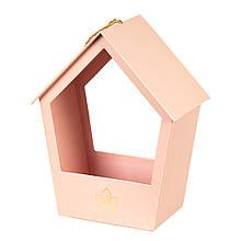 """Коробка для квітів """"Затишний будиночок"""" (pink)"""