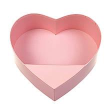 """Коробка для квітів """"Ніжне серце"""", рожева"""