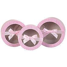 """Набір коробок """"Ніжність"""" 3 шт, рожевий"""