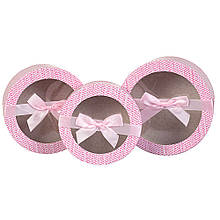 """Набор коробок """"Нежность"""" 3 шт, розовый"""
