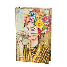 """Книга-сейф """"Дівчина в квітах"""""""