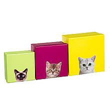 """Набір коробок """"Кошкін будинок"""" 3шт"""