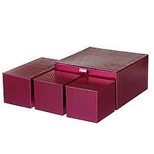 """Набір коробок """"Гармонія"""" 4 шт, червоний"""