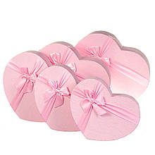 """Набір коробок """"Мить"""" 5 шт, розовыей"""